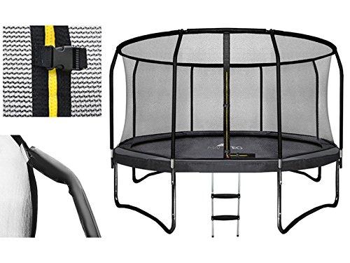Trampolin Set 305cm HQ Sport Gartentrampolin Komplettset Leiter Innennetz #2211