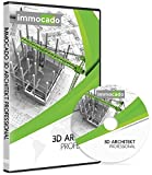 Immocado 3D Architekt Professional - 3D Hausplaner Architektur Software / 2D Grundriss Programm mit Hausplaner, Einrichtungsplaner, Raumplaner, Gartenplaner, Wohnungsplaner, Küchenplaner, Badplaner und Geländemodellierung
