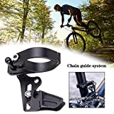 Draulic Einscheiben-Kettenführung für Mountainbikes Kettenspanner mit vorderem Einstellrad Positive und Negative Zahnstabilisatorkette Offroad-Anti-Drop-Kette