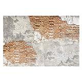 Vliestapete Shabby Backstein Wand, HxB: 320cm x 480cm