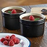 Mason Cash perfekt Ofengeschirr Dessert Dishes- Set von 2–Schwarz Keramik feuerfest Auflaufförmchen