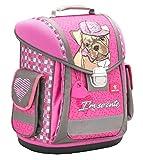 Belmil Ergonomischer Schulranzen Groß Mädchen Grundschule 1, 2, 3 Klasse Hündchen Puppy Pink Rosa (404-5 I'm so Cute)