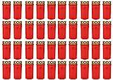 Grablicht Brenner Nr. 3 rot mit Deckel   Grabkerzen   Friedhofskerzen   Grablichtkerze   Trauerlicht   Gedenkkerze   Grabdekoration   Grabdeko (40er Pack)