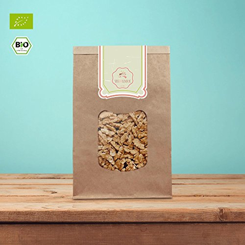 süssundclever.de | Walnüsse Bio | Walnussbruch | 1kg hochwertiges Naturprodukt | unbehandelt und 100% natürlich | plastikfrei und ökologisch-nachhaltig abgepackt | Walnusskerne