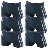 6er Pack Herren Retroshorts Boxershorts Remixx 070 schwarz dunkelblau mehrfarbig, Farbe:schwarz;Größe:XL