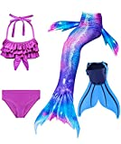 onlight Mädchen Kinder Meerjungfrauen mit Meerjungfrau Flosse zum Schwimmen