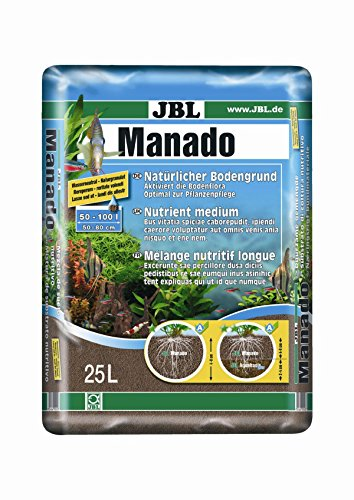 JBL 67025 Naturbodengrund für Süßwasser Aquarien Manado, 25 l
