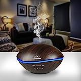 Diffuser, Aroma Diffuser infinitoo 500ML Wal Design Diffusor | Raumbefeuchter Ultraschall mit 7 LED Farbwechsel für Wohnzimmer, Kinderzimmer, Schlafzimmer, Baby, SPA, Büro (WAL-Schwarz)