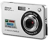 Aberg Best 21 Megapixel 2,7 'LCD wiederaufladbare HD Digitalkamera Digitale Videokamera Studentenkamera Indoor Outdoor für Erwachsene / Senioren / Kinder