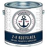 Hamburger Lack-Profi 2K Bootslack GLÄNZEND für GFK, Kunststoff & Polyester Weiß RAL 9010 Yachtlack Yachtfarbe Bootsfarbe (1 kg)
