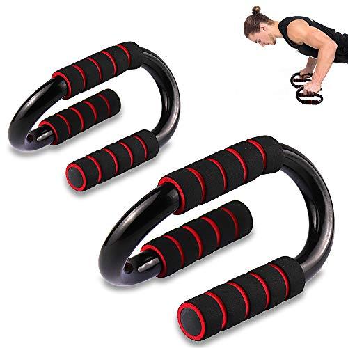 WeyTy Liegestützgriffe, 2er Liegestütze Push Up Stand Bar Liegestütz Griffe Sport Griffe für Starke Schultern/Arme/Rücken/Bauchmuskeln für Männer und Frauen, Standhält 180kg