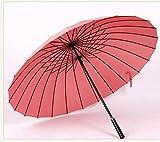TX TOOLS Regenschirm, Gerader Schaft, 24 Knochen, Winddicht, Langer Griff, kreativer Outdoor-Regenschirm, Doppel-Regenschirm, großer Regenschirm Rose
