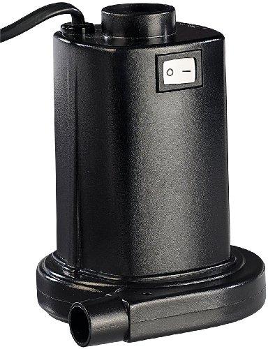 infactory Luftpumpe Luftmatratze: Elektrische Luftpumpe für schnelles Auf- & Abpumpen, 230V Euro-Stecker (Elektrische Pumpe für Luftmatratze)