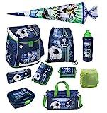 Fußball Schulranzen Scooli Campus Up 10tlg. Set mit Sporttasche, Schultüte 85cm und Regen-/Sicherheitshülle FCPR8252