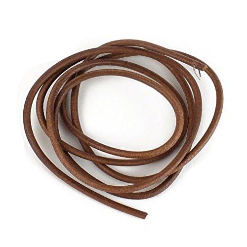 Nähmaschine Riemen lederband leder antriebsriemen für Nähmaschine Ø5mm 1,8 meter, inkl haken für Singer, brother, AEG...