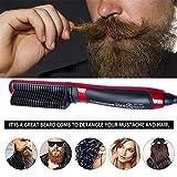 Bartkamm, elektrischer Haar-Kamm-Mann-Multifunktionshaar-Lockenwickler-LCD-Monitor-Keramik-Bart-Kamm-beweglicher Männer schneller Bart glatter Kamm-Haarglätter schneller Bart-Bürste