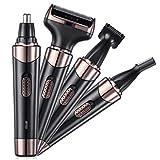 Nasenhaarschneider Nasenhaartrimmer für Männer 4 in 1 Wiederaufladbar Elektrischer Rasierer Gesichtshaartrimmer Trimmer für Augenbrauen Rasierer für Bart