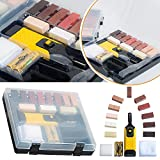 Safekom Reparaturkit für Laminatböden, Arbeitsflächen und Möbel, Wachssystem, Chips, gegen Kratzer, 19 Stück