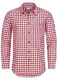 Stockerpoint Trachtenhemd OC-Franzl   kariert   Regular Fit   in Verschiedenen Farben (M, Rot)