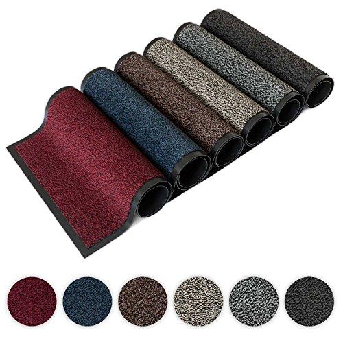 Kettelservice-Metzker Schmutzfangmatte | Sauberlaufmatte | versch.Farben & Größen | incl.Fleckentferner | grau-schwarz meliert 60 x 90 cm