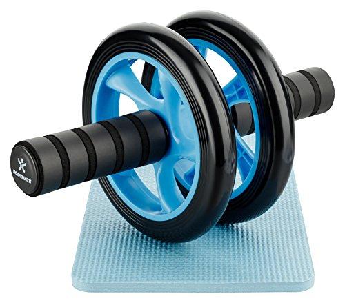 BODYMATE AB Roller Classic Verschiedene Farben I Bauchtrainer mit Knieauflage I Bauchroller mit Komfortgriffen I Bauchmuskeltrainer I AB Wheel