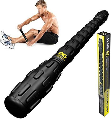 Muskel Massageroller Pro, bestes Tool für schmerzende, angespannte Muskeln, Krämpfe & Knoten. Super Massage für Waden, Beine, Rücken & Erholung von Muskelkater. GRATIS EBOOK & lebenslange Garantie!