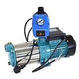 Kreiselpumpe Hauswasserwerk Gartenpumpe MHi 1300 Watt 6000 L/h 5,5 bar mit Schaltautomatik Druckschalter Trockenlaufschutz PC-59