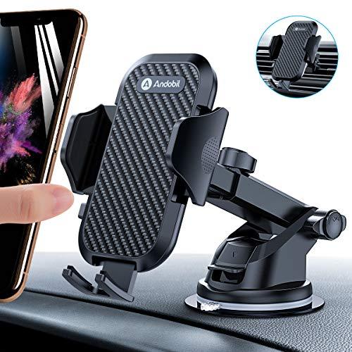 andobil Handyhalter fürs Auto Handyhalterung Lüftung & Saugnapf Halterung 3 in 1 Universale KFZ Handyhalterung Smartphone Halterung für iPhoneX Xr Samsung S10 S9 Huawei Xiaomi usw