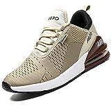 Mabove Laufschuhe Herren Turnschuhe Sportschuhe Straßenlaufschuhe Sneaker Atmungsaktiv Trainer für Running Fitness Gym Outdoor(Beige/9670,45 EU)