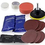 ms-point 15 teiliges Scheinwerfer Aufbereitungs Polier und Pflege Set Headlight Polish inklusive UV Schutz