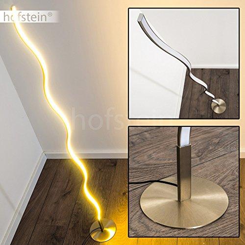 LED Stehleuchte Dillon aus Metall - geschwungene Bodenleuchte - Standlampe für Schlafzimmer, Wohnzimmer, Esszimmer - Retro-Stehlampe mit fest eingebauten LED - 3000 Kelvin - 1000 Lumen