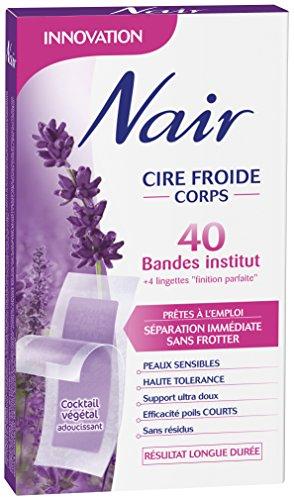 Nair - 40 Kaltwachsstreifen für Körper - Trennung ohne Reiben - Tradition Natur Pfirsich & Minze