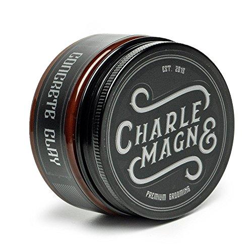 Charlemagne Concrete Clay - Super Starker Halt - Matt Look Pomade - Haar-Wachs für Männer und Herren - 100ml - Fettet nicht - Styling Cream - Hair-Wax hergestellt in UK - Barbier Qualität