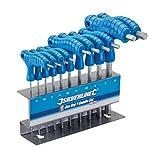 Silverline 323710 Innensechskant-Stiftschlüssel mit Quergriffen, 10-tlg. Satz 2–10 mm