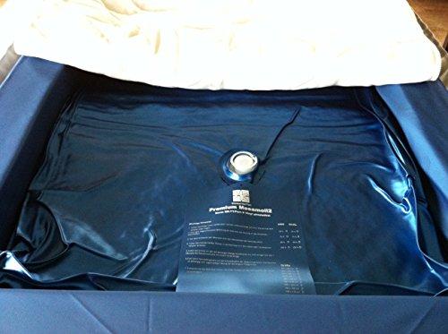 Einzelne Mesamoll2 DUAL Wasserbettmatratze 100x200 cm, Wasserkern Wassermatratze für 200x200 cm Softside Wasserbett (F4 90% Beruhigung)