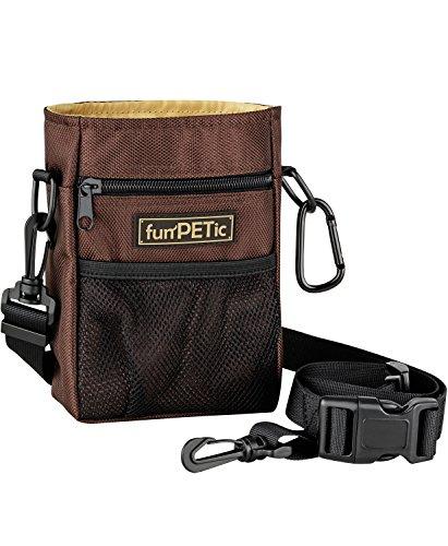 funPETic Futterbeutel Advanced – Leckerli-Beutel Hunde-Training mit 4 Fächern & Tragevarianten, Futter-Tasche auch für Pferde