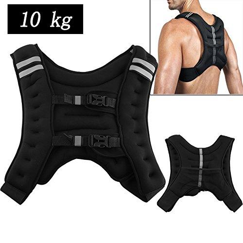 Gewichtweste Trainingsweste Fitnessweste Laufweste Gewichte Weste Laufweste 10kg 36*20*9cm