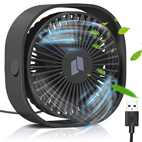 TedGem USB Ventilator, Ventilator Klein Handventilator PC Ventilator USB Mini Ventilator USB Lüfter Geräuscharm, USB Fan Einfach zu Tragen, für Büro, Zuhause und im Freien(3 Geschwindigkeiten)