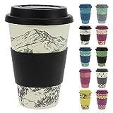 ebos Glücksbringer Coffee-to-Go-Becher aus Bambus | Kaffe-Becher, Trink-Becher | ökologisch abbaubar, recyclebar, umweltfreundlich | lebensmittelecht, spülmaschinengeeignet