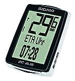 Sigma Sport Fahrrad Computer BC 16.16, 16 Funktionen, Ankunftszeit, Fahrradtacho mit Kabel, wasserdicht