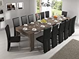 Home Innovation – Esstisch, ausziehbar bis 301 cm, Eiche dunkel, Maße geschlossen: 90 x 49 x 75 cm Höhe.