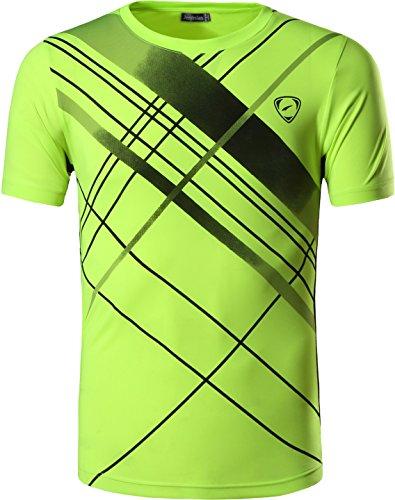 jeansian Herren Sportswear Quick Dry Short Sleeve Men's Tee T-Shirt Tops Tshirt LSL069_Black_XL