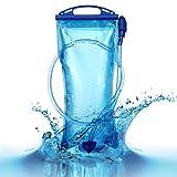 wasserblase 2L Trinkblase 2L Wasserbeutel Wasserblase für Rucksack trinksystem für rucksack Wanderrucksack Trinkrucksack Radfahren Wasserblase Trinksystem Zum Camping Wandern Radfahren Freiheit (2L Blau)