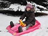 AlpenGaudi Unisex Jugend Space pink Schlitten, One Size