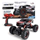 Maximum RC Ferngesteuertes Auto für Kinder - 4WD Monstertruck - XL RC Auto für Kinder ab 8 Jahren - Rock Crawler (rot)