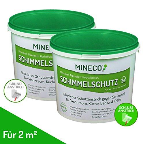 MINECO ökologische Anti-Schimmel Farbe / Schimmelentferner / Schimmelschutz für 2 m² - ohne giftige Inhaltsstoffe