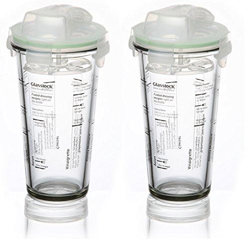 Glasslock (2x PC-318-SD. 2x 450ml) Frischhaltedose aus Glas - Shaker Typ-