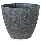 Gartenpirat Pflanzkübel rund Ø 44 Höhe 37 cm Kunststoff Topf Granitoptik anthrazit