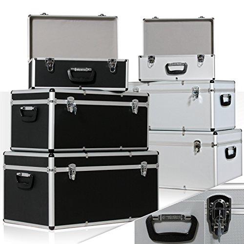 Masko 3er SET Alu Boxen  Alubox  Alukiste  Werkzeugkoffer  Werkzeugkasten  Transportbox | Werkzeugkiste | Lagerbox NEU Werkzeug Box | Farbe: Schwarz