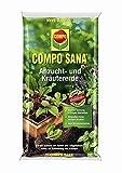Compo SANA Anzucht- und Kräutererde mit 6 Wochen Dünger für alle Jung- und Kräuterpflanzen, Kultursubstrat  Jasker's Bodenanalyse (2 x 20 L)
